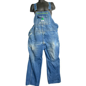 Liberty Men Carpenters Overalls Bib Denim 48 Blue
